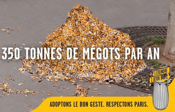 Jet Megot Paris Amende