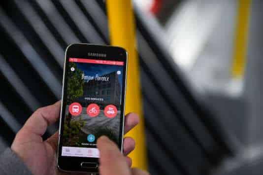 l'application MAAS sur un smartphone