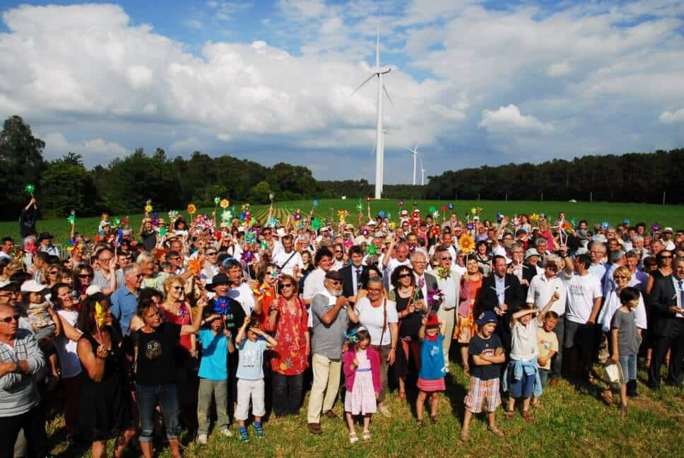 inauguration du parc éolien de Béganne avec la population