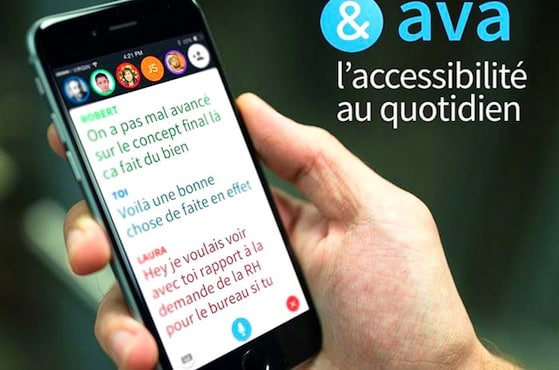 L'application AVA sur un smartphone