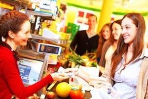 Caissiere de supermarche