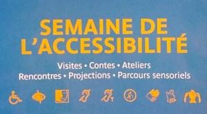 affiche de la semaine de l'accessibilité