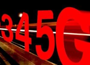 Progression de chiffres, de 3 a 5G