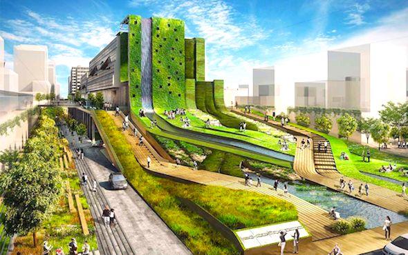 Dessin de ville futuriste comme ceux de « OnDijon »