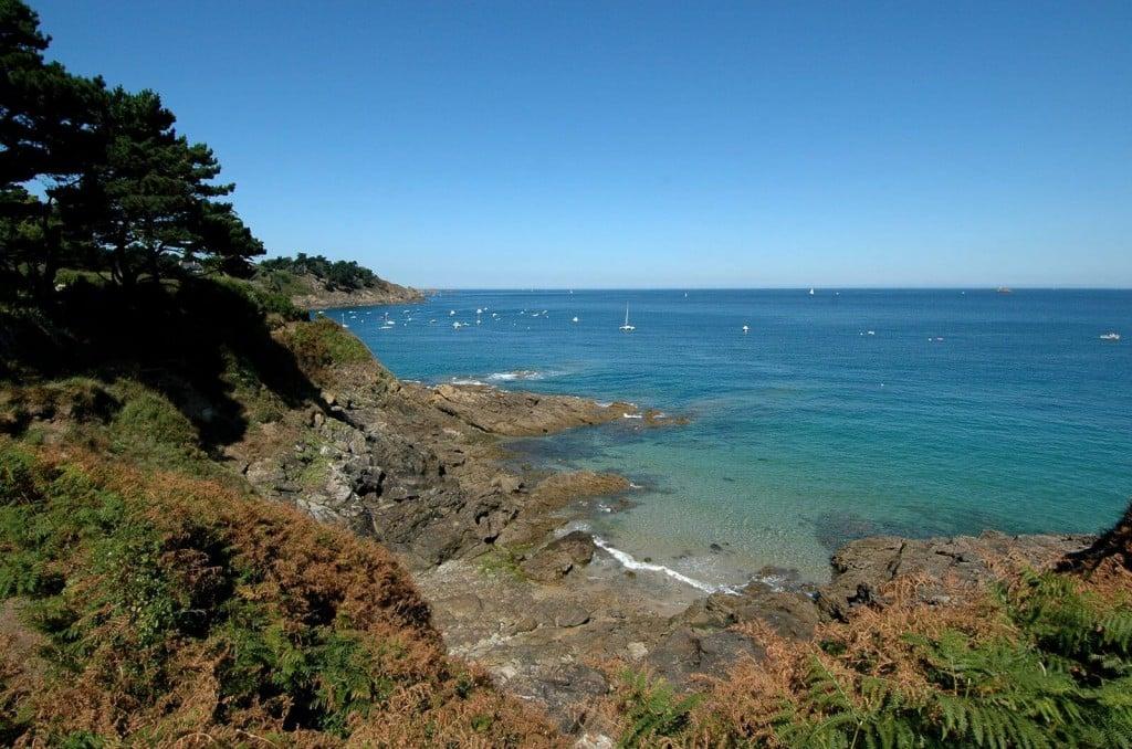 vue sur la plage de Saint-Lunaire