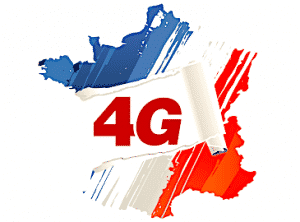 """Sigle """"4G"""" sur la carte de France"""