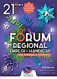 Affiche du prochain Forum Regional Emploi Handicap en mars 2019