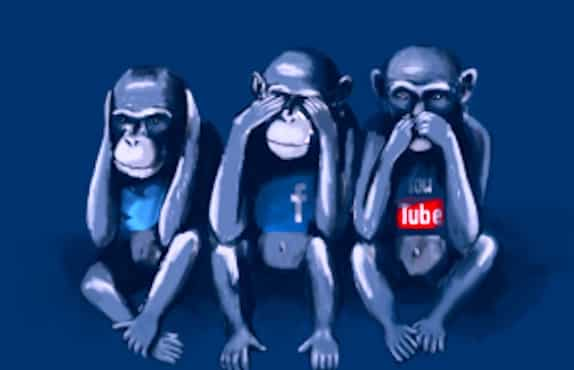 Trois singes qui refusent de voir, d'entendre et de parler.