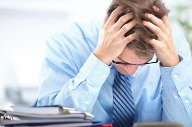 Travailleur En Proie Au Stress