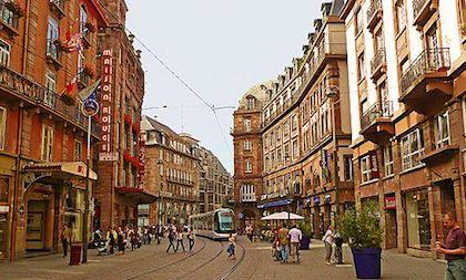 Une Rue Dans Strasbourg