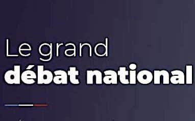 Annonce du Grand Débat National.