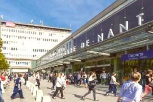 La gare de Nantes.
