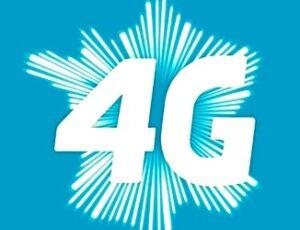Symbole 4G sur la carte de France.
