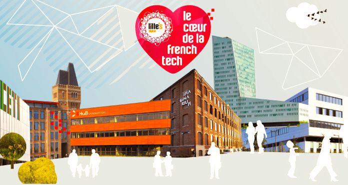 Publicité pour Lille, ville active de la French Tech.