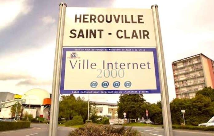 Panneau Qui Indique La Connexion Internet De La Ville