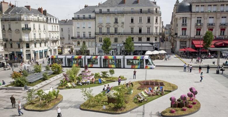 les espaces verts à Angers