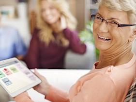 La tablette Facilotab est d'un accès simplifié, qui convient à de nombreux handicaps.