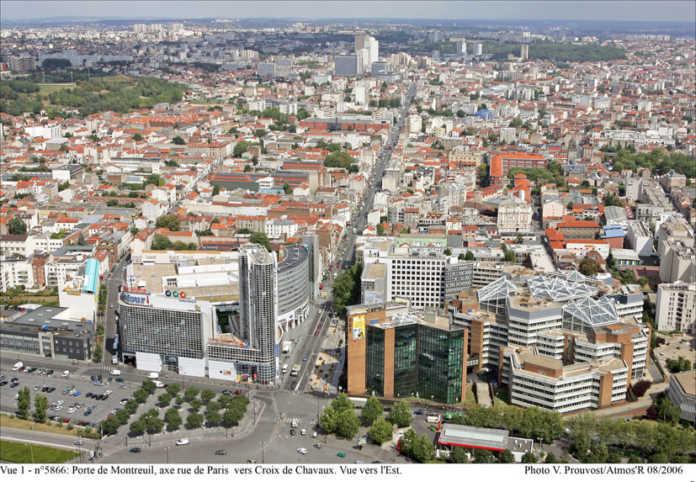 une vue de Montreuil