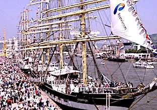 Armada de Rouen et ses bateaux à quai