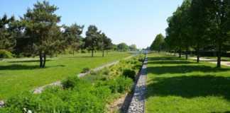 une vue sur un parc municipal de Vitry-sur-Seine