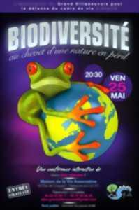 la biodiversité: une grenouille qui tiend la terre entre ses pattes