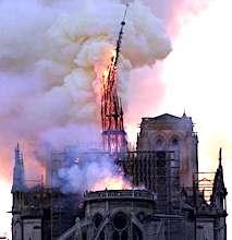 Hier, un terrible incendie a ravagé la cathédrale de Notre-Dame de Paris.