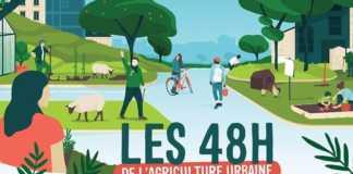 l'affiche des 48 h de l'agriculture urbaine