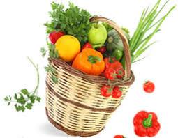un panier de fruits et légumes pour illustrer les jardins familiaux de Meudon
