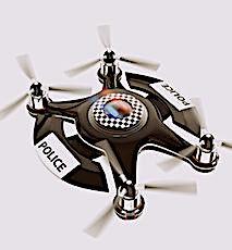 La police apprécie l'aide apportée par les drones de surveillance.