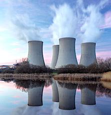 vue de centrales lieu de production de ressource en énergie nucléaire