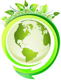 symbole du développement durable: la terre en vert