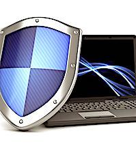 photo d'un bouclier et d'un ordinateur pour illustrer les moyens de sécuriser ses données