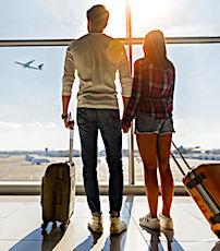 vue de voyageurs en avion bientôt touchés par une écotaxe